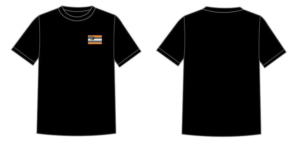 T-shirts available in any color as long as it's black!